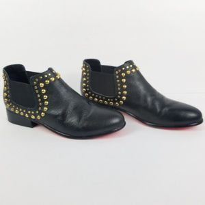 Betsey Johnson Sadie Black Leather Boots Booties 9